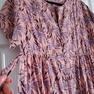 Madewell Dresses - Madewell Oasis Palms Button Front Tiered Dress M